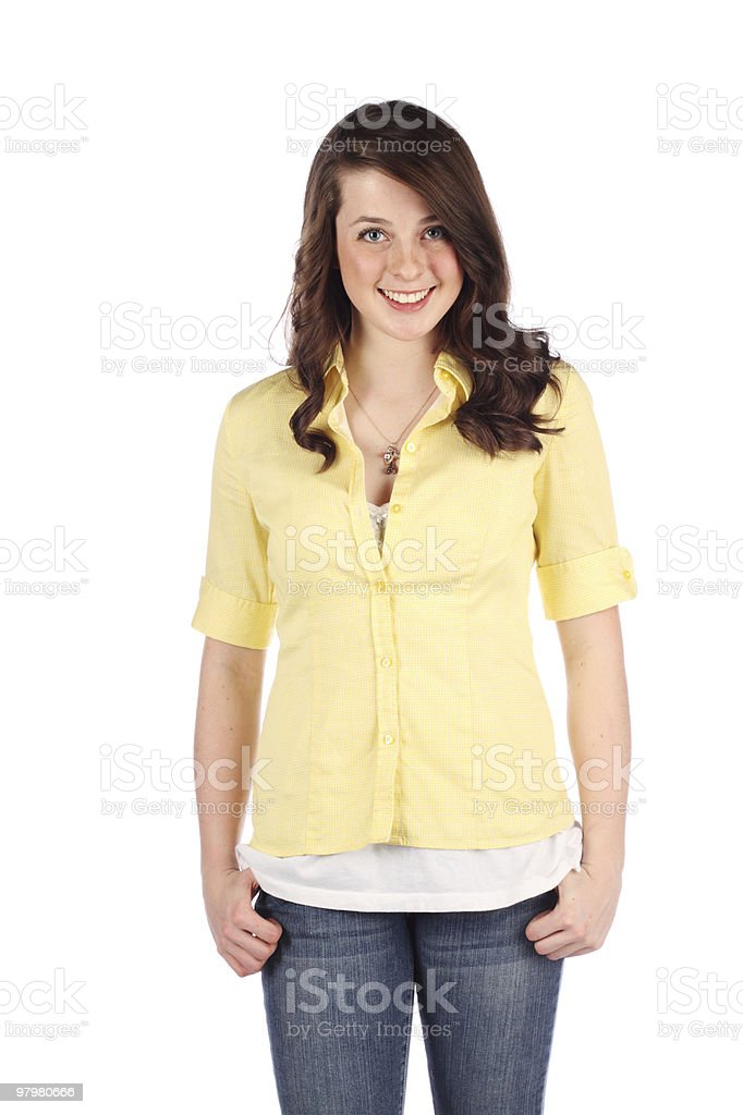 Portrait of a real Teenager royalty-free stock photo