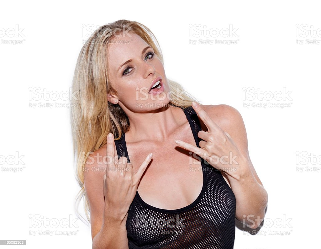 I love Rock and Roll! stock photo