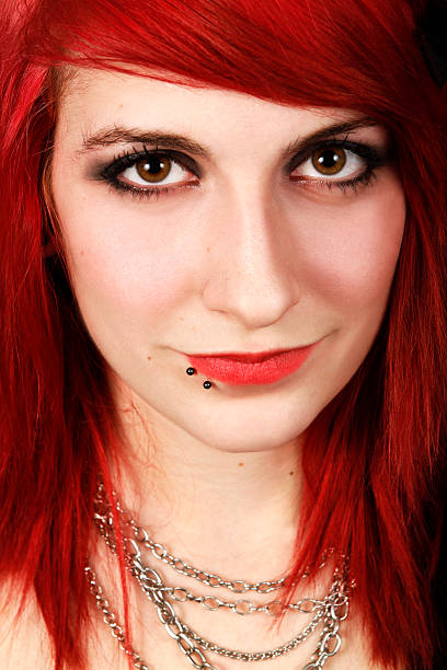 Portrait of a red hair girl  goth stock pictures, royalty-free photos & images