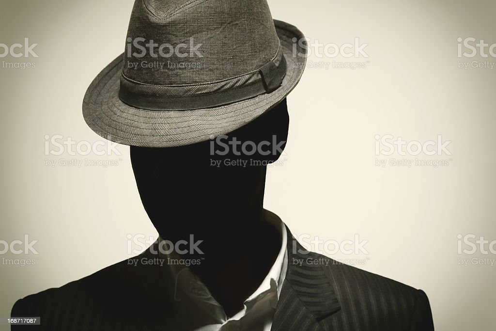 Portrait of a Retro Businessman stock photo