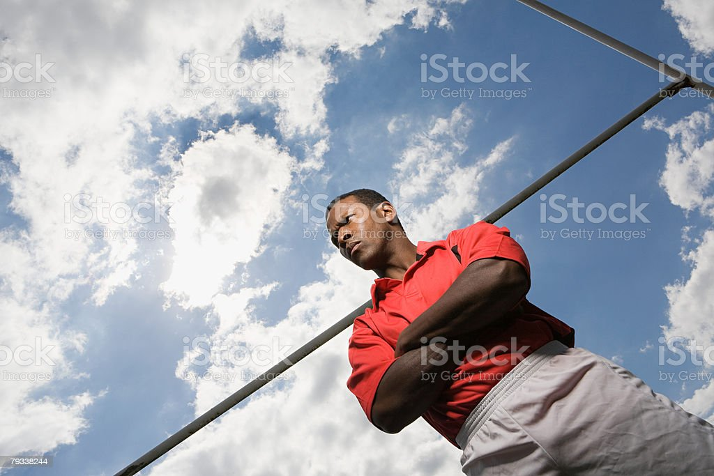 Portrait of a rugby player 免版稅 stock photo