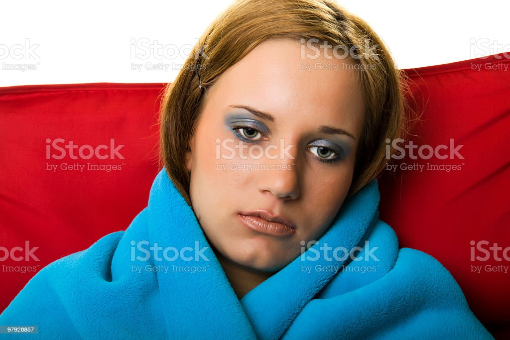 Portrait of a sad girl royalty-free stock photo