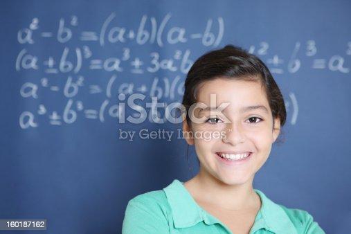 istock Portrait of a schoolgirl 160187162