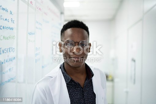 Portrait of a scientist at laboratory