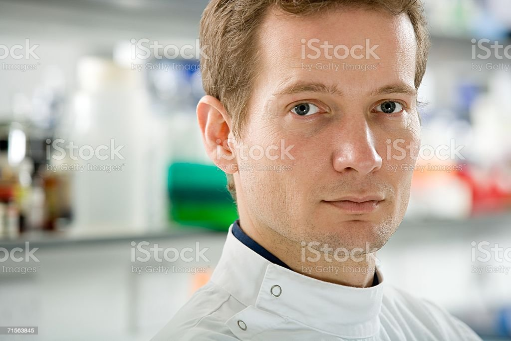 Portrait of a scientist royalty-free stock photo