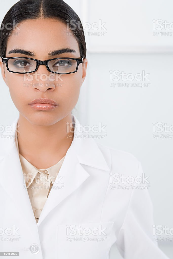 Portrait of a scientist 免版稅 stock photo