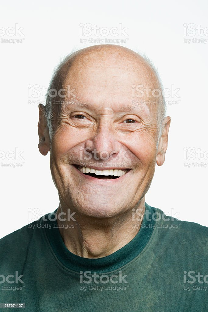 Portrait of a senior adult man stock photo