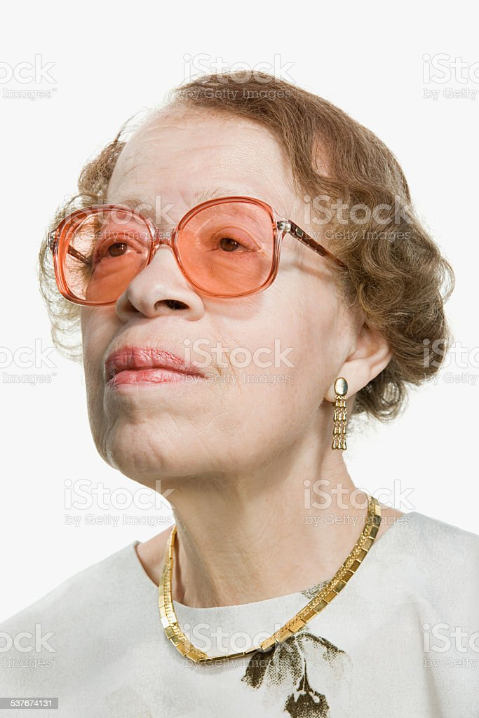 Portrait of a senior adult woman stock photo