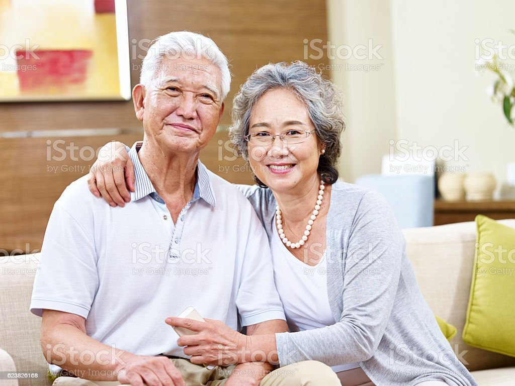 portrait of a senior asian woman stock photo