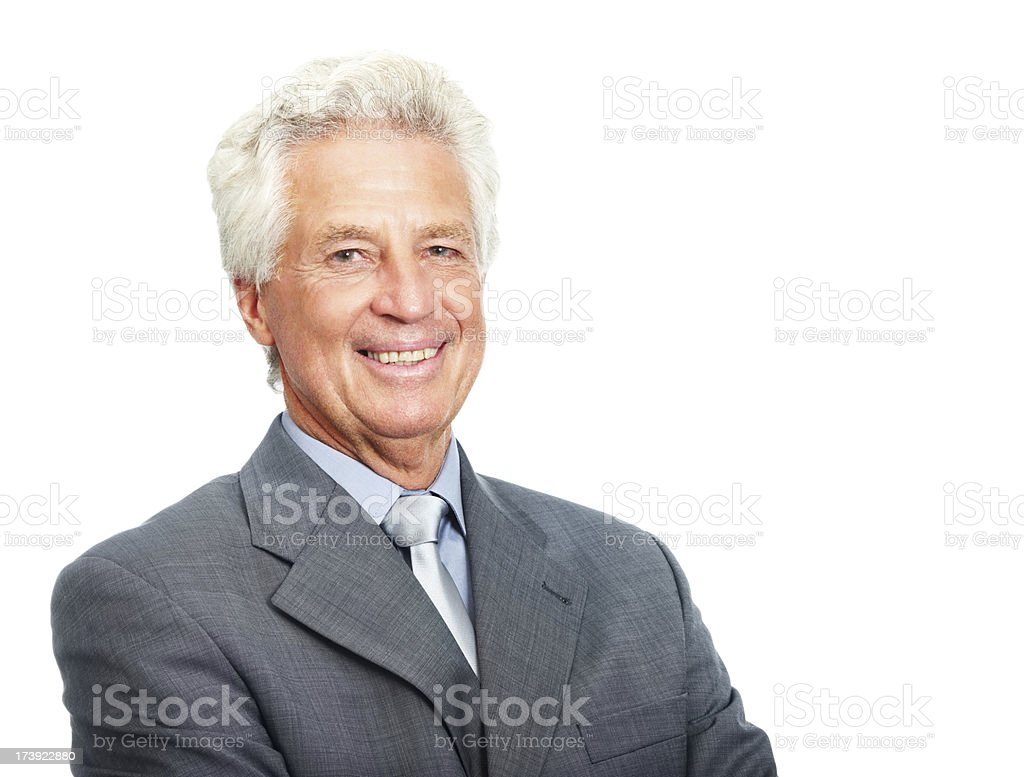 Portrait of a senior business man royalty-free stock photo