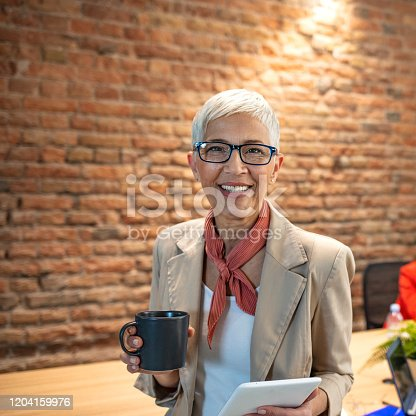 919520858 istock photo Portrait of a senior business woman on a good working day 1204159976