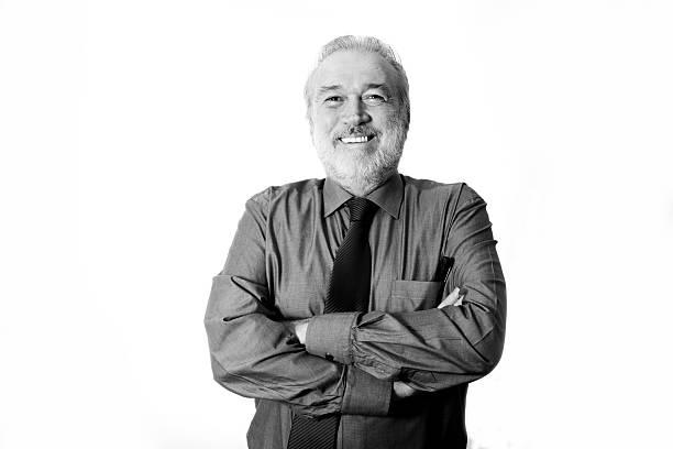 Portrait of a senior businessman Portrait of a senior businessman monochrome stock pictures, royalty-free photos & images