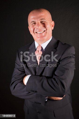 179607668 istock photo Portrait of a senior businessman smiling 184858513