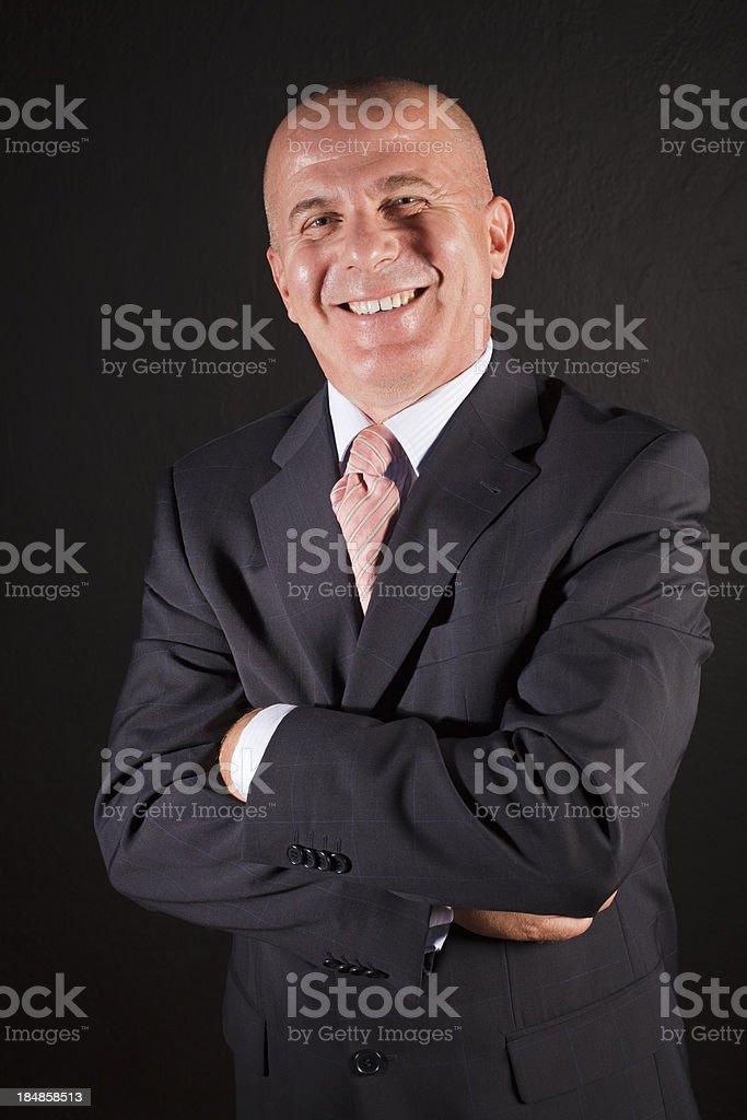 Porträt von einem leitenden Geschäftsmann, Lächeln – Foto