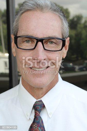 179607668 istock photo Portrait of a senior businessman smiling 522804100