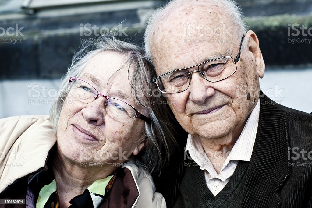 portrait of a senior couple in love royalty-free stock photo