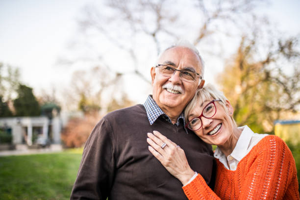 Portrait of a senior couple. stock photo