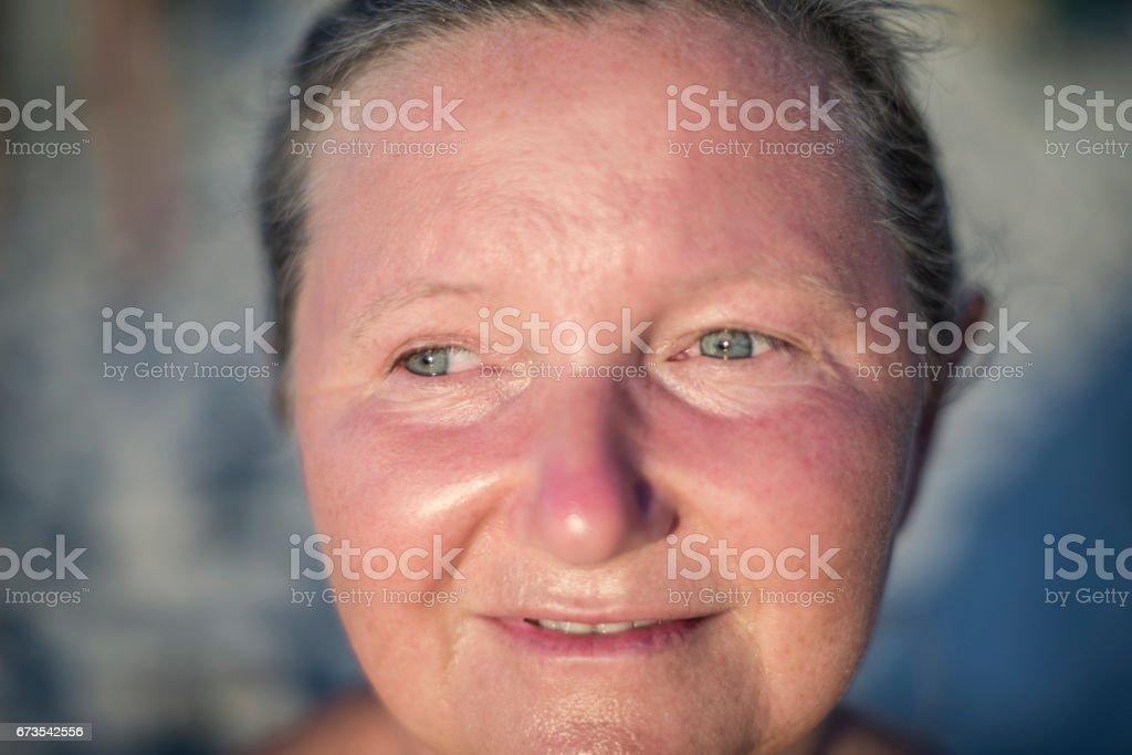 Portrait of a senior lady royalty-free stock photo