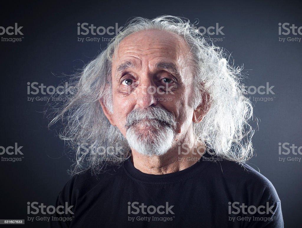 Porträt eines älteren Mannes. – Foto