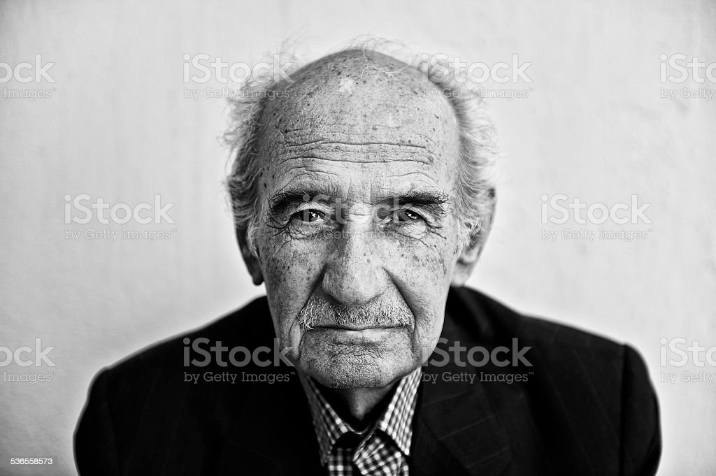 Portrait of a senior man stock photo