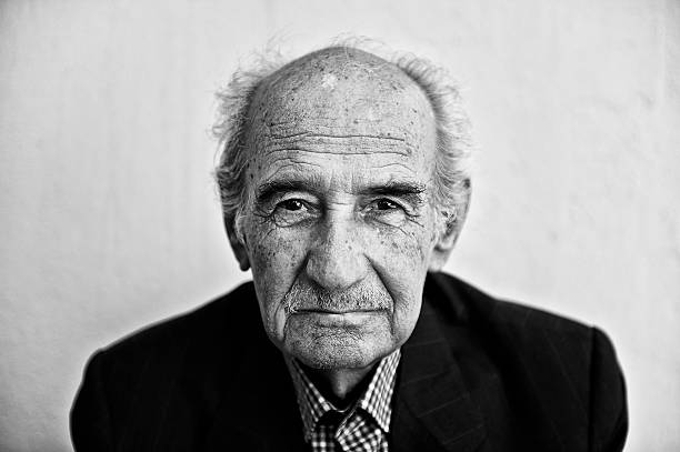 Portrait of a senior man Old man suffering from Alzheimer's Disease. Alzheimer's disease is the most common cause of dementia. In 2006, there were 26.6 million sufferers worldwide. Alzheimer's is predicted to affect 1 in 85 people globally by 2050 fine art portrait stock pictures, royalty-free photos & images