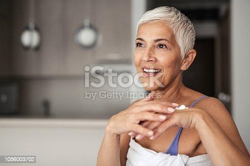 Portrait of a beutiful senior woman
