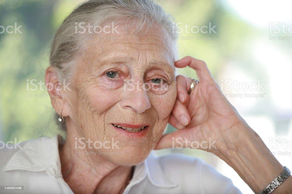 Porträt einer senior Frau. – Foto