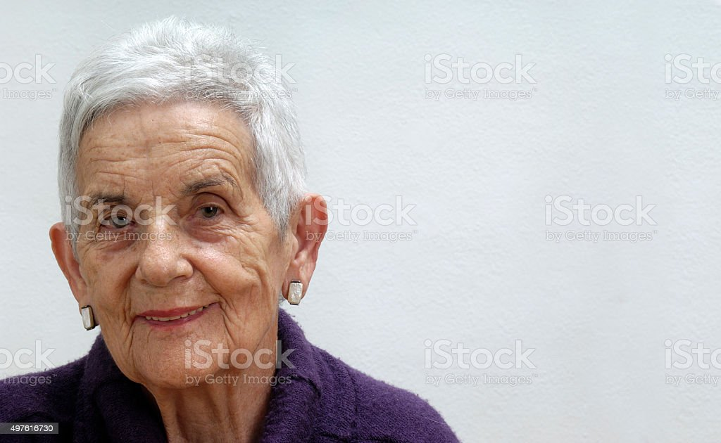 portrait of a senior woman stock photo