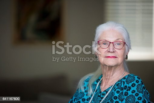istock Portrait of a senior woman 641167600