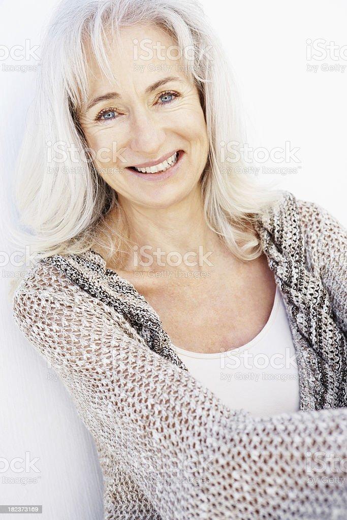 Portrait of a senior woman smiling royalty-free stock photo