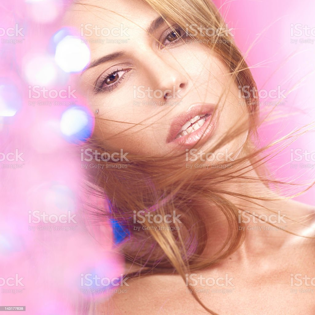 portrait of a sensual woman looking at you royalty-free stock photo