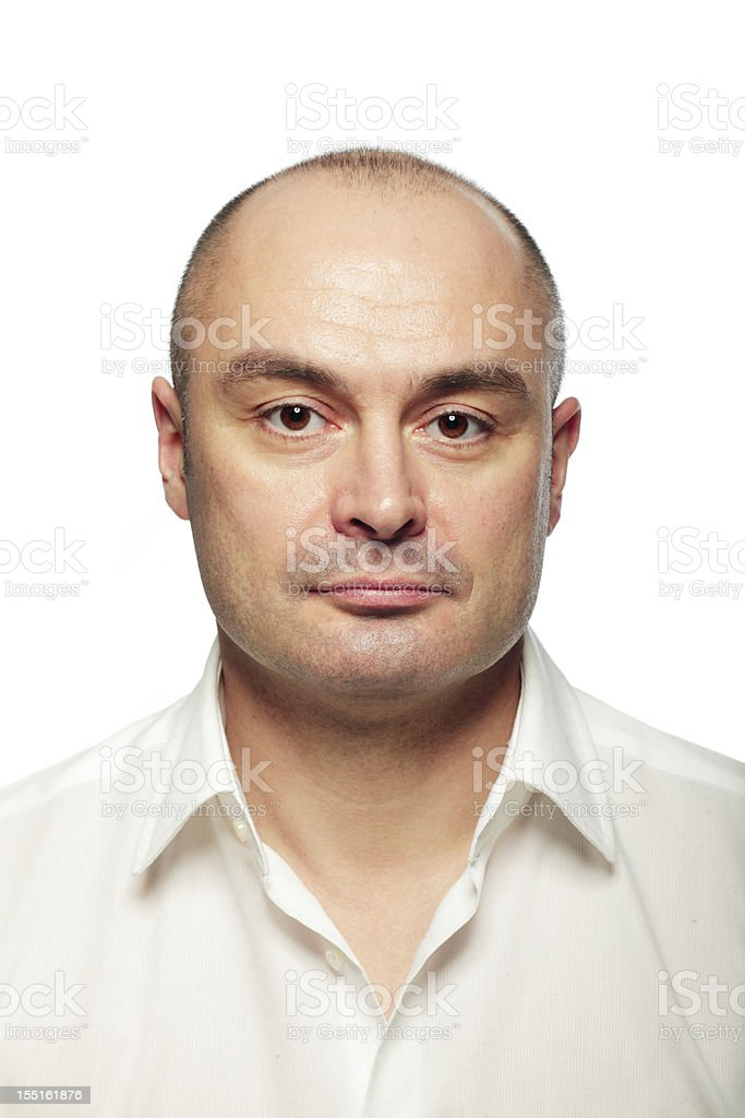 Portrait of a serious man stock photo