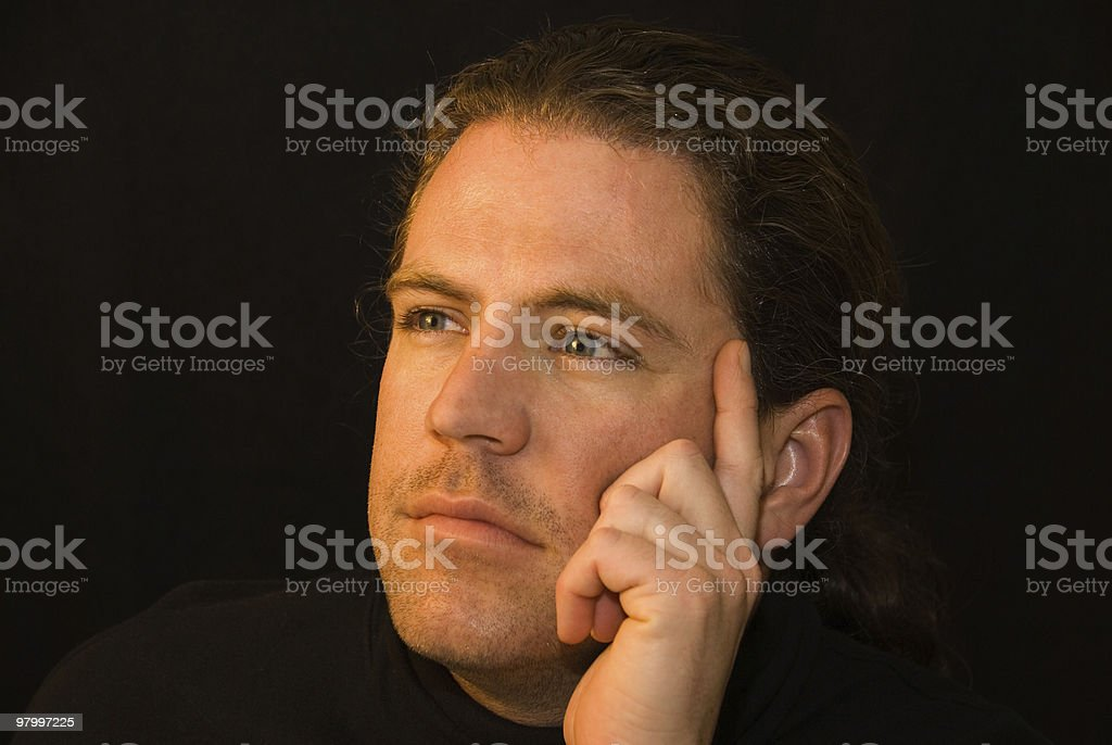 Portrait of a serious man royalty-free stock photo