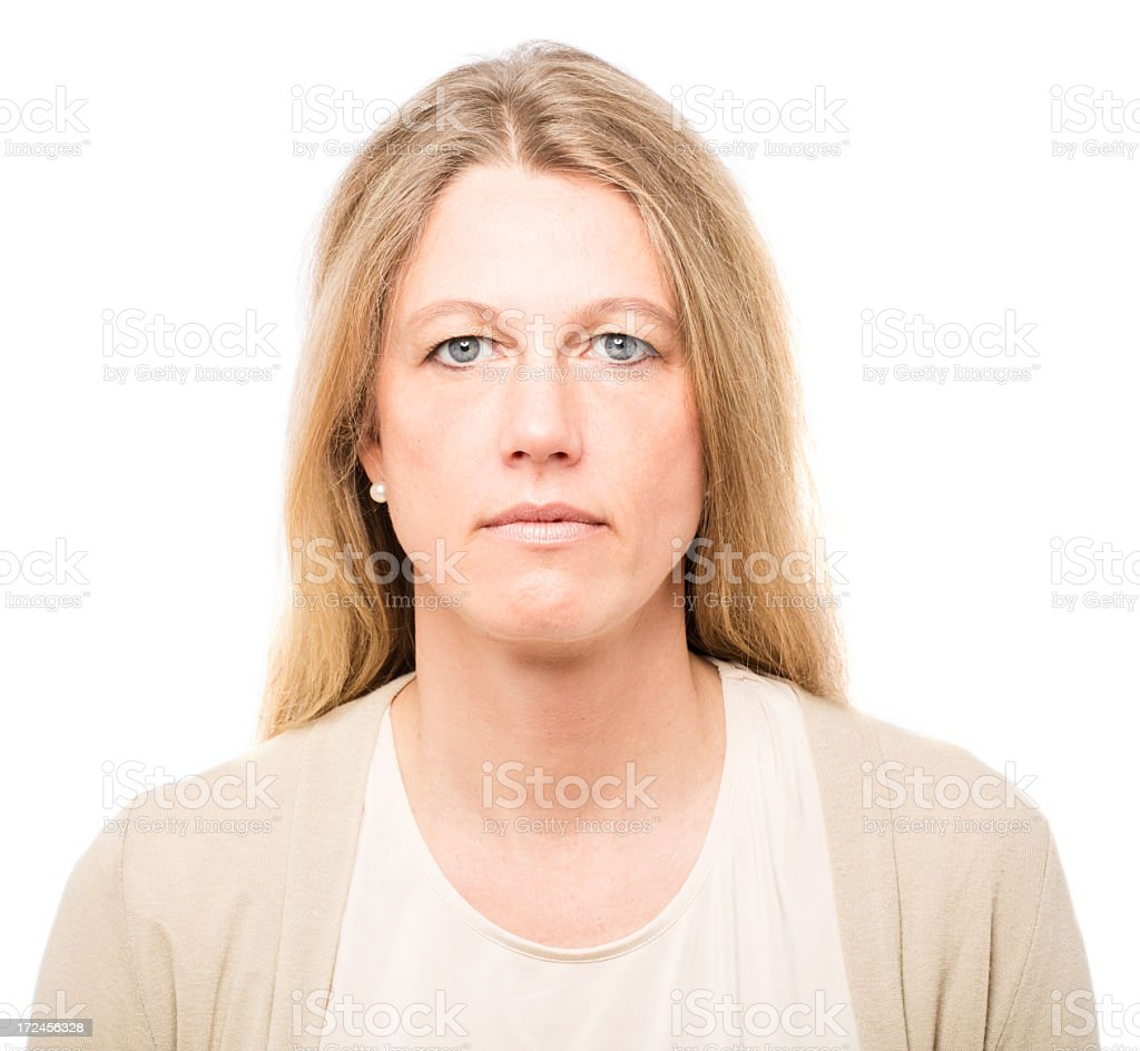 Portrait of a serious woman royalty-free stock photo