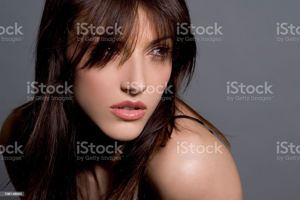 portrait of a sexy girl stock photo