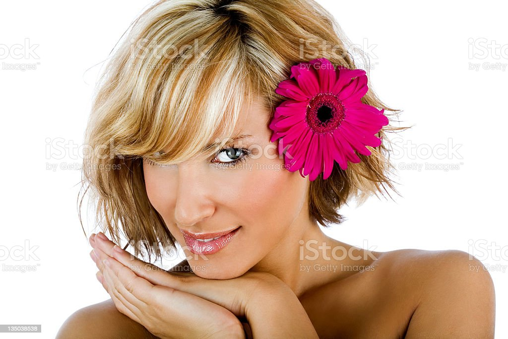 portrait of  a sexy girl smiling royalty-free stock photo