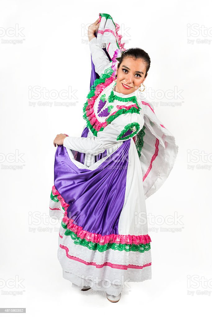 Portrait of a sexy Mexican dancer stock photo