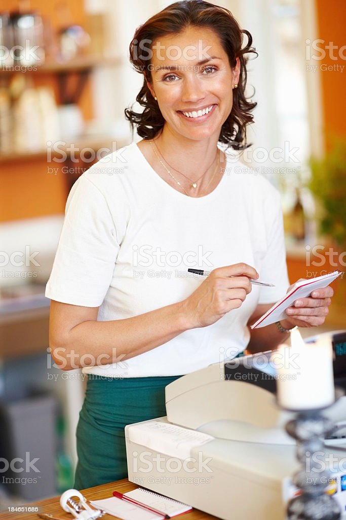 Portrait of a shop assistant royalty-free stock photo