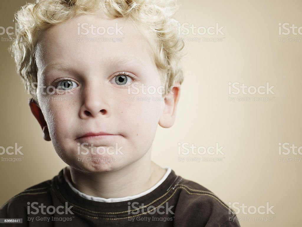 Portrait of a six year old boy.  royalty-free stock photo