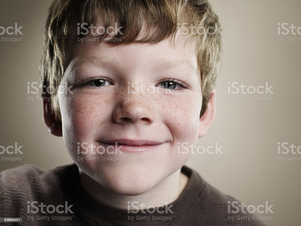 Portrait of a six year old boy.  royalty free stockfoto
