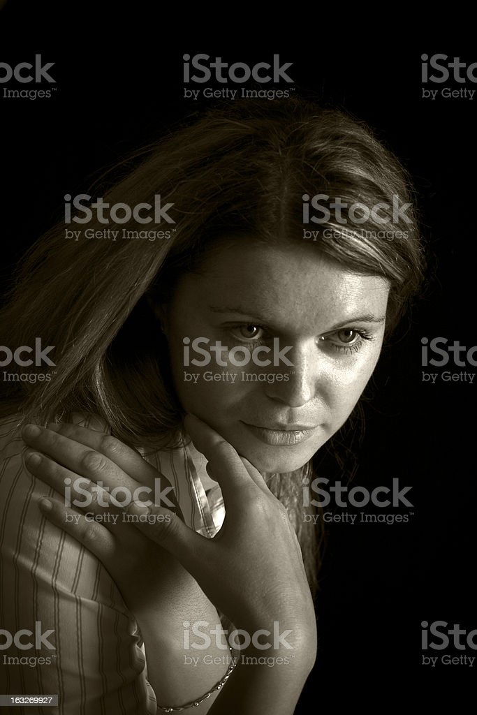 Portrait of a Slovak woman royalty-free stock photo