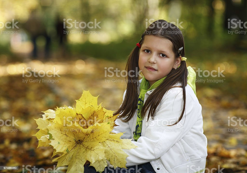 Portrait of a small girl royalty-free stock photo