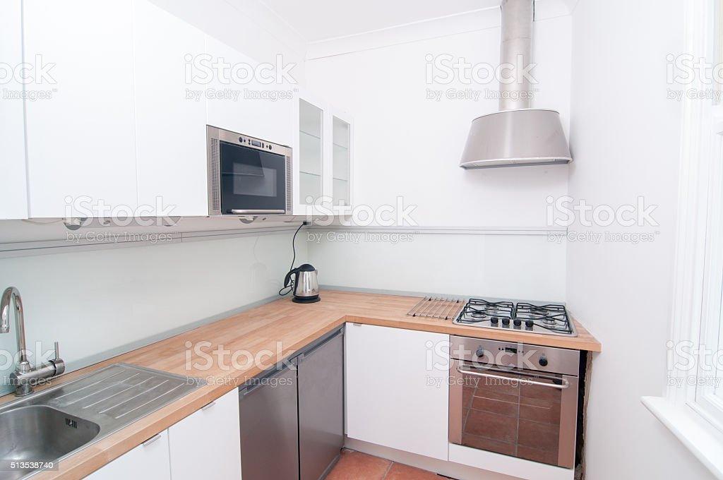 Portrait Of A Small Kitchen stock photo