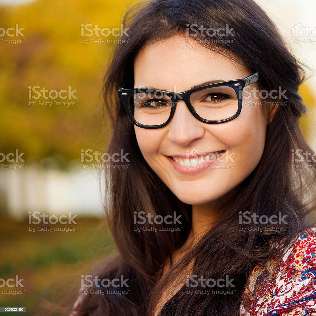 Portrait of a Smart, Likeable Young Woman stock photo