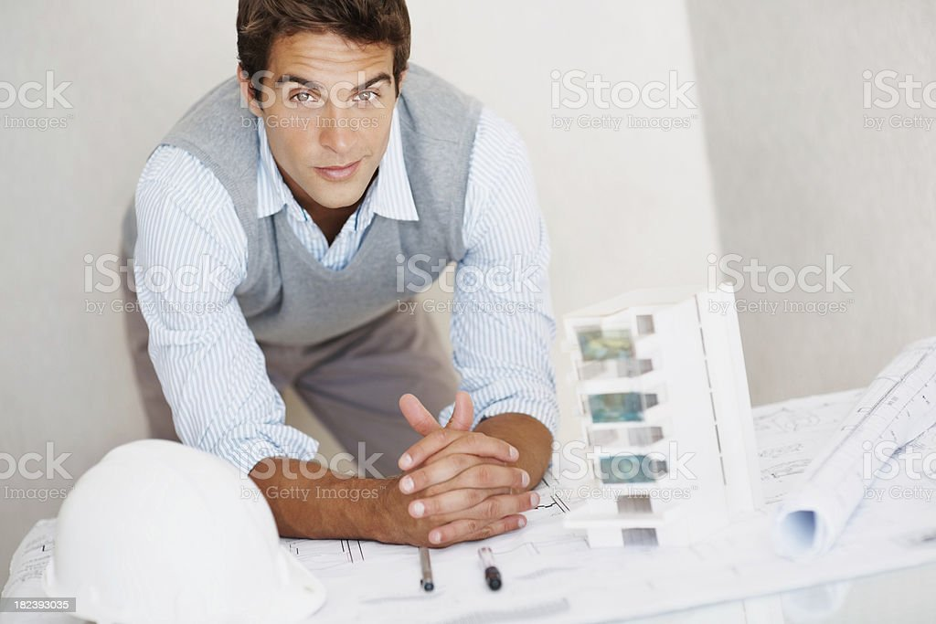 Portrait of a smart young architect at work royalty-free stock photo