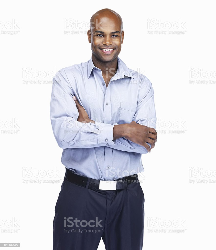 Portrait of a smiling African American businessman royalty-free stock photo