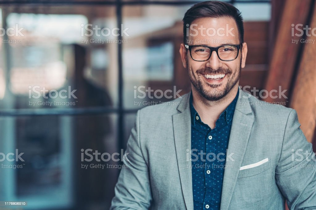 Portrait of a smiling businessman Smiling businessman 30-39 Years Stock Photo