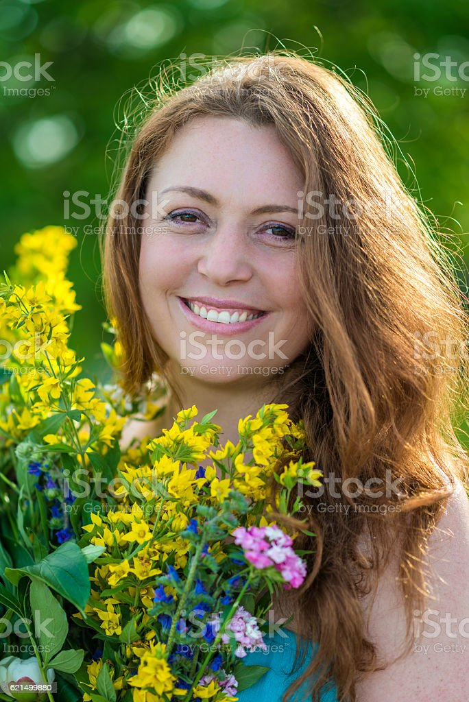 Ritratto di una ragazza sorridente foto stock royalty-free
