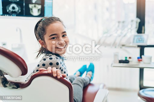 Girl patient sitting in the dentist's office