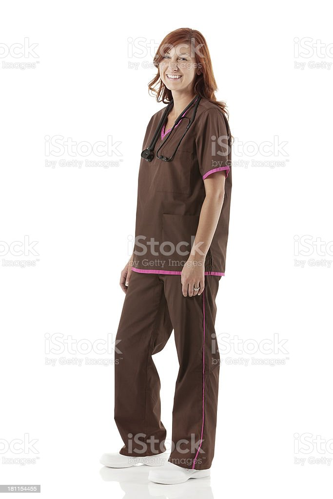 Portrait of a smiling healthcare worker royalty-free stock photo